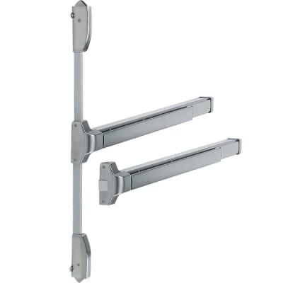 Arrone® Touchbar Rebated Double Door Panic Bar Set - Satin stainless Silver