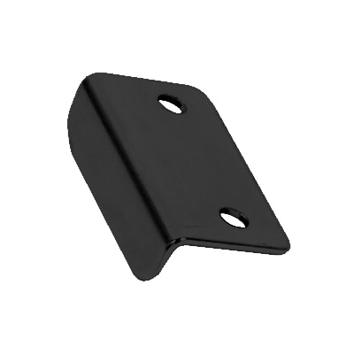 Angled Latch Plate - 30 x 16 x 9mm - Black Nickel - Pack 10