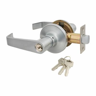 Touchpoint Hotel Door Lever Set - Entrance - Satin Chrome