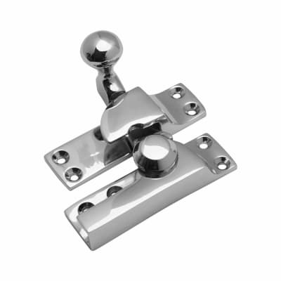 Quadrant Arm Sash Fastener - 69mm - Polished Chrome