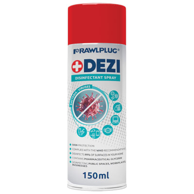 Rawlplug R-DEZi+ Universal Disinfectant Spray - 150ml