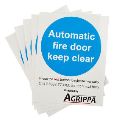 Agrippa Holder Fire Door Stickers - Pack 5