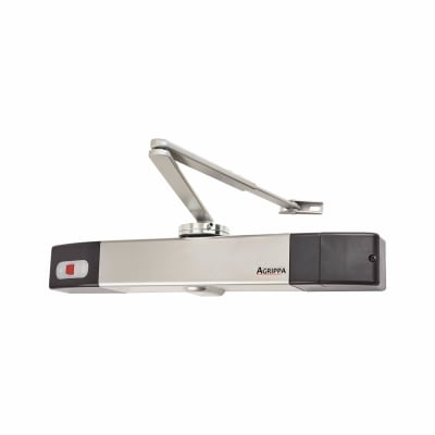Agrippa Acoustic Fire Door Closer - Silver