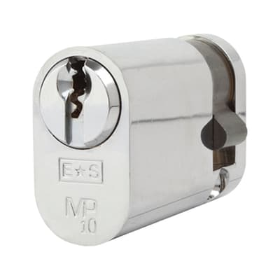 Eurospec Oval Single Cylinder - 10 Pin - 35 + 10mm - Polished Chrome - Keyed to Differ