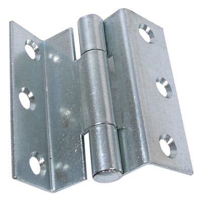 Storm Proof Casement Hinge - 8mm wide gap - 63mm - Bright Zinc Plated - Pair