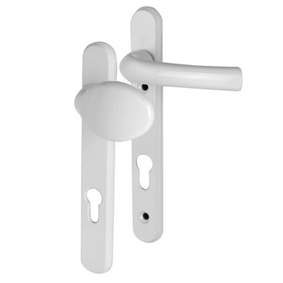 Hoppe Tokyo Multipoint Handle - uPVC/Timber - 92mm C/C - 60-70mm door thickness - Lever/Pad - White