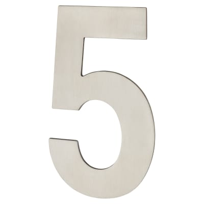 A-Spec Concealed Fixed Numeral - 5 - Satin Stainless Steel