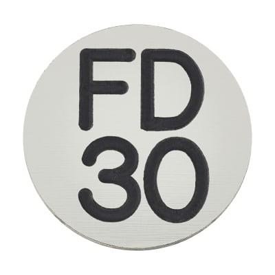 FD30 Door Sign Self Adhesive - 25mm - Silver