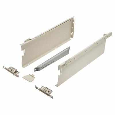 Blum METABOX BLUMOTION Soft Close Drawer Pack - Single Extension - 118mm (H) x 400mm (D) - 30kg