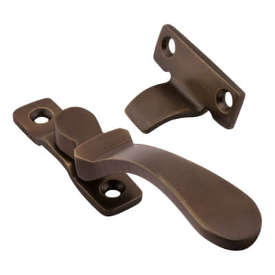 Hampstead Victorian Wedge Window Fastener - Antique Bronze