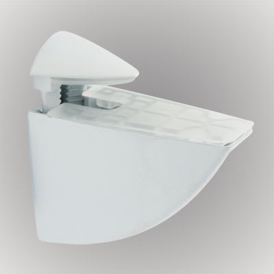 Pelican Shelf Support Bracket - 8-40mm Shelf Thickness - White