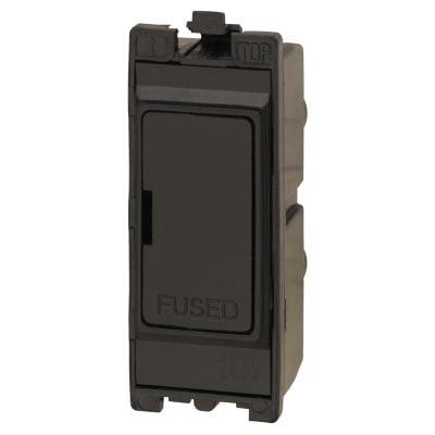 Contactum 13A Fused Connection Unit - Black
