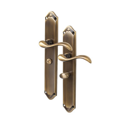 M Marcus Lara Door Handle - Bathroom Set - Antique Brass