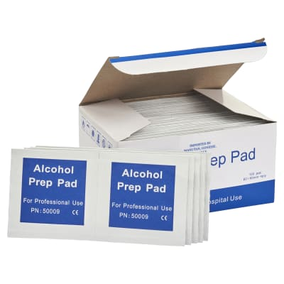 Antiseptic Alcohol Wipes - 60 x 50mm - Pack of 100