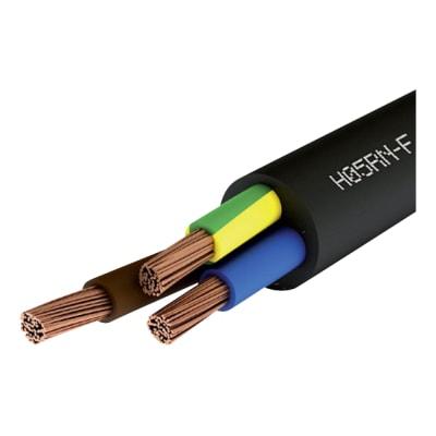 3183P 3 Core Pond Flexible Cable 3 x 0.75mm x 25m - Black