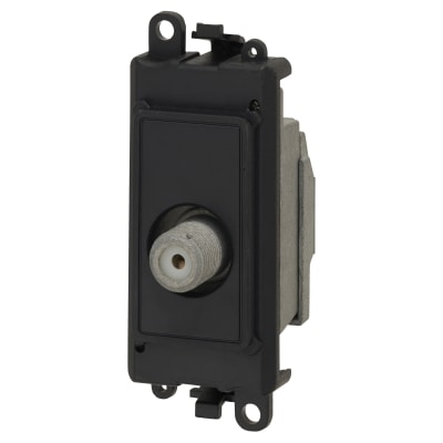 Click Scolmore Satellite F Type Module - Black