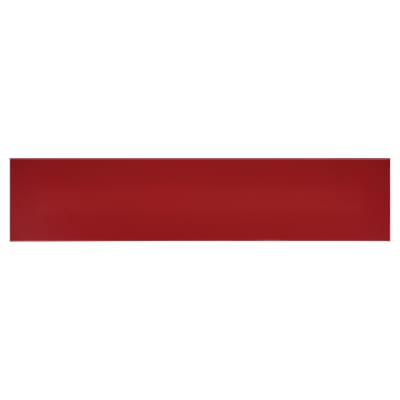 Hoppe Paris Coloured Nylon Self Adhesive Finger Plate - 75 x 350mm - Rouge Red