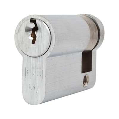 Eurospec Euro Single Cylinder - 5 Pin - 35 + 10mm - Satin Chrome - Keyed to Differ