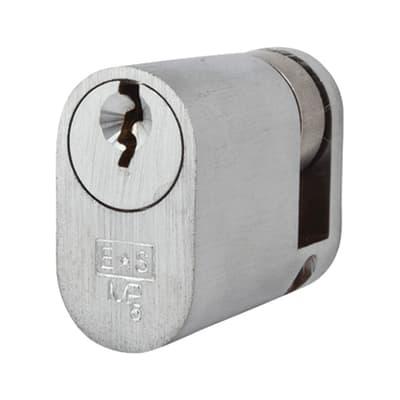 Eurospec Oval Single Cylinder - 5 Pin - 30 + 10mm - Satin Chrome - Keyed Alike