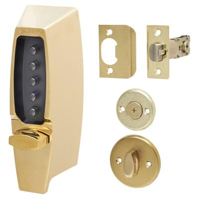 Kaba Unican Light Duty Mechanical Code Lock - Polished Brass