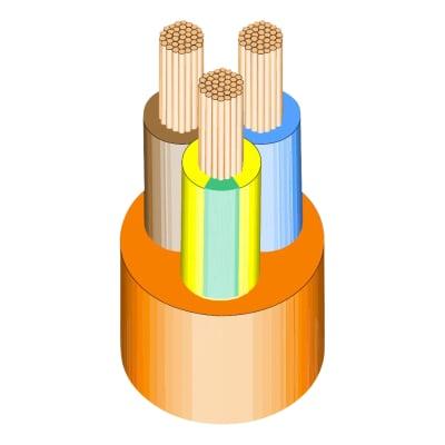 3183Y PVC Flex 3 x 1.5mm x 25m - Orange