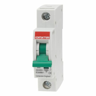 Contactum 6A 10kA 3 Phase Single Pole MCB - Type B