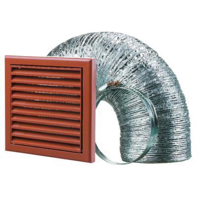 Blauberg Cooker Hood Duct Vent Kit Fan Extract - 150mm - Terracotta