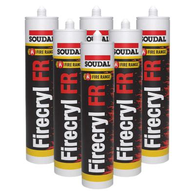 Soudal Firecryl FR - Trade Multi-pack - 310ml - White - Pack 6
