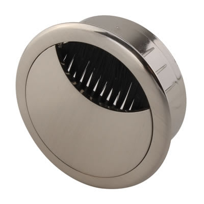 ION Round Cable Tidy - 60mm - Brushed Nickel