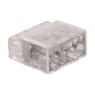 Unicrimp 24A 450V 4 Port Push In Wire Connector - Transparent