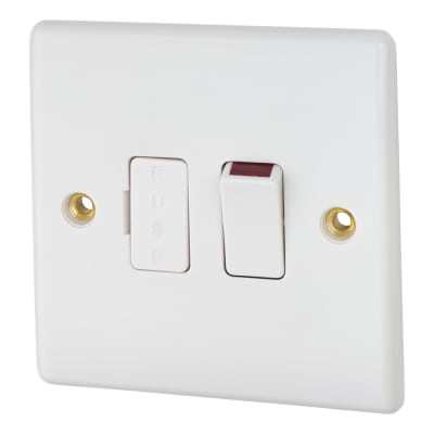 BG 13A Switched Fused Connection Unit - White