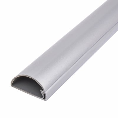 D-Line Trunking - Self Adhesive - 50 x 25 x 2m  - Aluminium Effect