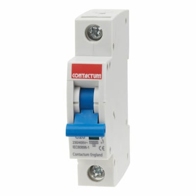Contactum 20A 10kA 3 Phase Single Pole MCB - Type C