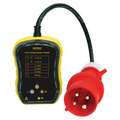 Martindale PC104 32A 3 Phase Industrial Socket Tester
