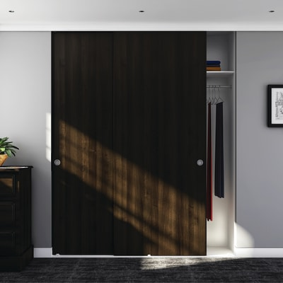 Klug Double Wardrobe Top Sliding Door Kit - 2000mm Track - 30kg