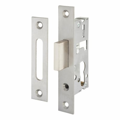 SAG Narrow Stile Dead Lock - 30mm Backset - Satin Stainless Steel