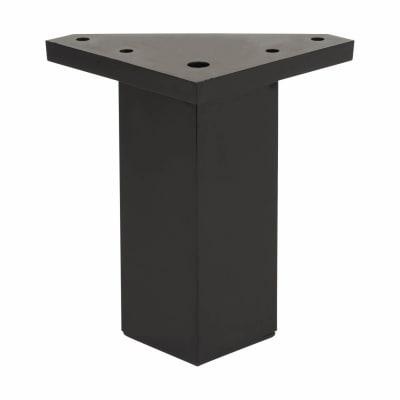ABS Plastic Furniture Leg - Square - 40 x 40 x 80mm - Black