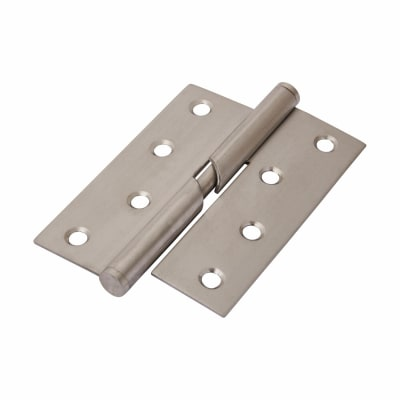Stainless Steel Falling Butt Hinge - 100 x 75 x 2mm - Right Hand - Satin Stainless - Pair