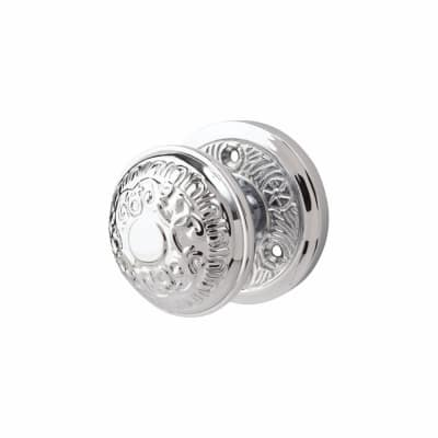 M Marcus Aydon Mortice Door Knob - Polished Chrome