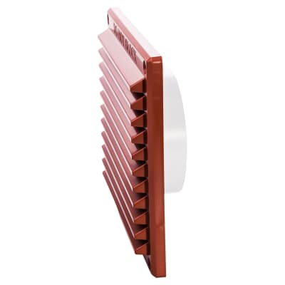 Rytons 6 x 6 Louvre & 97mm Dia. Backplate Set Bagged - Terracotta