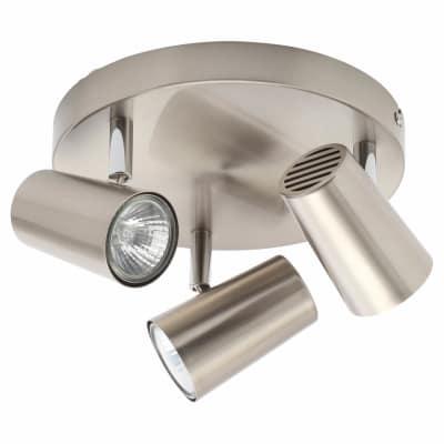 Forum Harvey 3 Light Ceiling Spotlight Bar - Satin Nickel