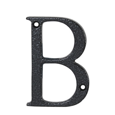 76mm Letter - B - Antique Black Iron