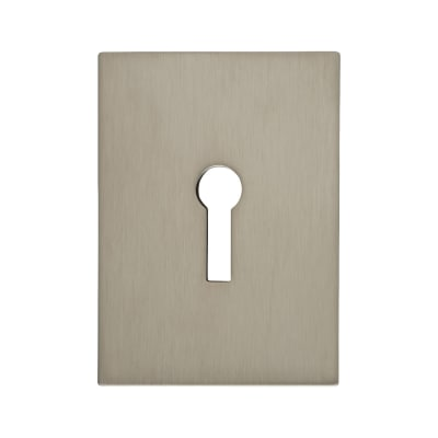 Jumbo Adhesive Fixing Escutcheon - 65.5 x 47.6mm - Keyhole - Satin Stainless Steel