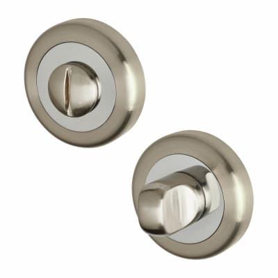 Morello Turn & Release - Satin Nickel/Polished Chrome