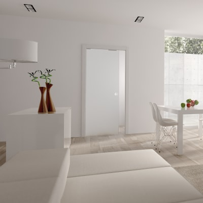 Eclisse 8mm Glass Single Pocket Door Kit - 125mm Wall - 826 + 826 x 2040mm Door Size