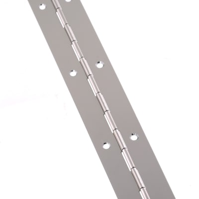Steel Piano Hinge - 1800 x 32 x 0.7mm - Nickel Plated