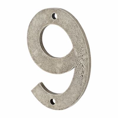 Finesse Numeral Number - 9 - Pewter