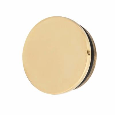Solid Brass Flat End Cap - 51mm Diameter - Polished Brass