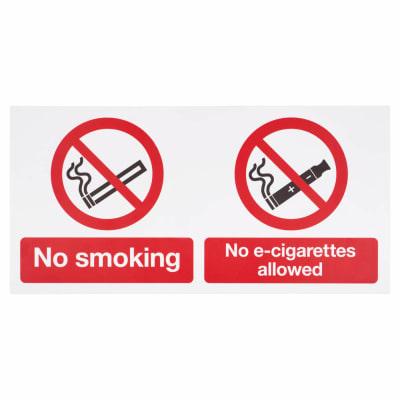 No smoking, No E-Cigarettes Allowed - 300 x 500mm
