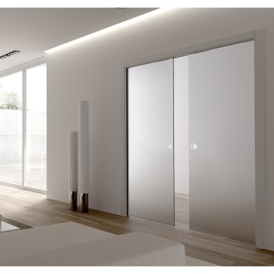 Eclisse 8mm Glass Double Pocket Door Kit - 100mm Wall - 826 + 826 x 2040mm Door Size